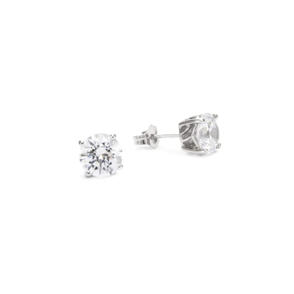 43f37ecff Myia Passiello Essentials Swarovski Zirconia 2 Carat Round Stud Earrings