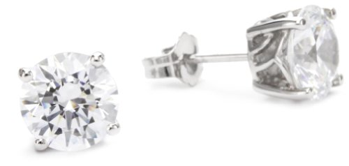 "Myia Passiello ""Essentials"" Swarovski Zirconia 2 Carat Round Stud Earrings"