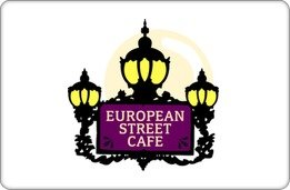 European Street Cafe Gift Card ($55) front-1044319