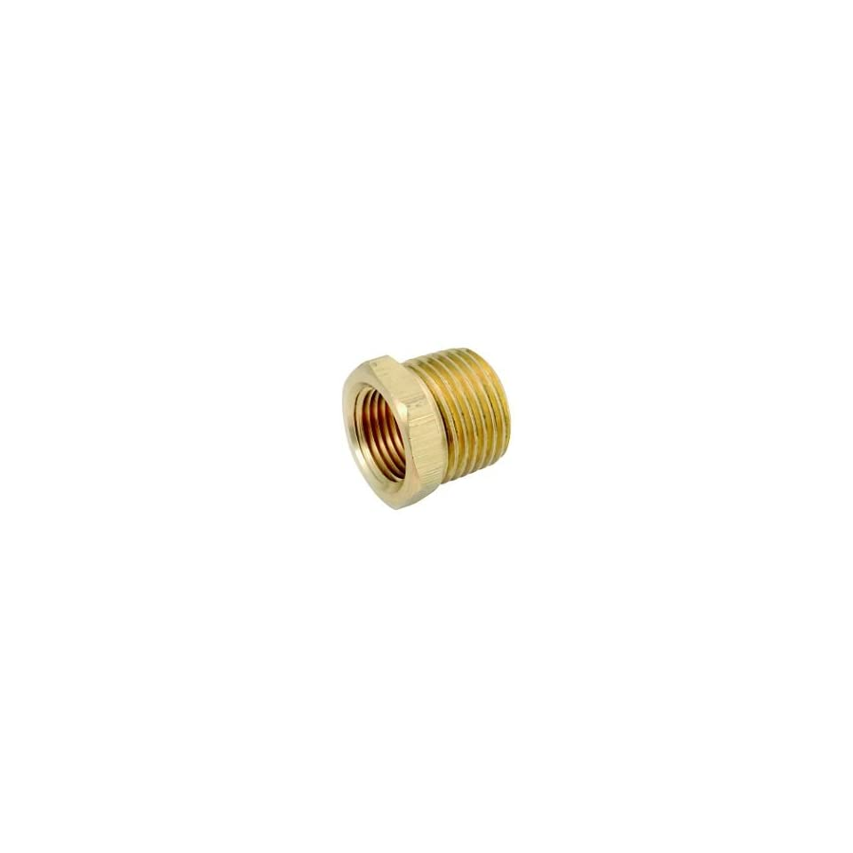 Anderson Metals Corp 1/2X1/8 Brs Hex Bushing (Pack Of 5 Brass Pipe Coupling Reducers & Bushings