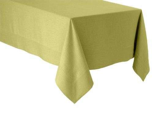 BLANC CERISE Tischdecke - Leinen mit wasserabstoßender Imprägnierung - einfarbig, bestickt 120 cm