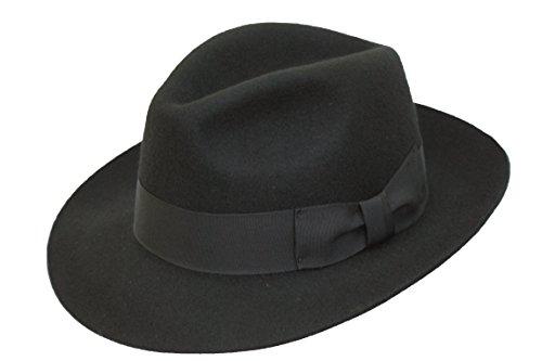 haute-qualite-fabriquee-a-la-main-pour-homme-fedora-chapeau-trilby-feutre-avec-bords-larges-100-nouv