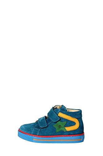 Falcotto ALF VELCRO VELOUR Sneakers Bambino Nabuk Petrolio Petrolio 22