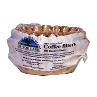 If You Care Coffee Filter Basket, 2 1/2 inch Depth -- 100 per pack 3 packs per case. (Unbleached Basket Coffee Filters compare prices)