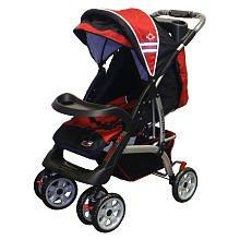 BeBeLove-USA-Deluxe-Stroller-Red