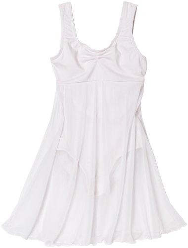 Capezio Little Girls' Empire Dress Leotard, White, T (2-4) front-484038