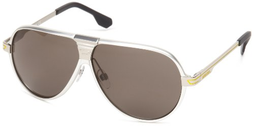 Diesel DL00686118A Aviator Sunglasses,Grey,61 mm