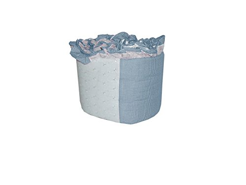 Baby Doll Gingham/Eyelet Patchwork Crib Bumper, Blue