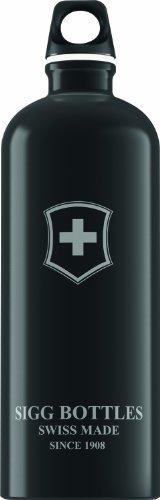 Sigg Swiss Emblem Water Bottle (Black, 1.0-Litre) front-1042951