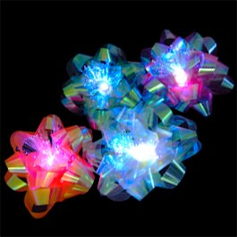 12 Christmas Holiday or Birthday LED Light Up Gift Bows