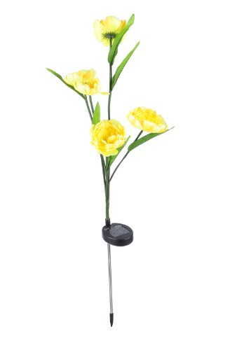 Outdoor Garden Decor Peony Flower Landscape Light Solar Led Changing Color Light