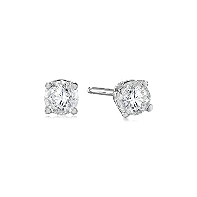 14k Gold Round-Cut Diamond Stud Earrings (H-I Color, I1-I2 Clarity)