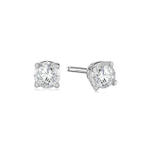 14k White Gold Round Cut Diamond Stud Earrings (1/3 cttw, I-J Color, I2-I3 Clarity) (Amazon Groups compare prices)