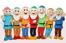 Snow White's 7 Dwarfs All 7 Adult Mascot Costume