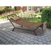Fathers Day Outdoor Hammock on Stand Bed Soft Cushioned Pillow / Magazine / Book Rack