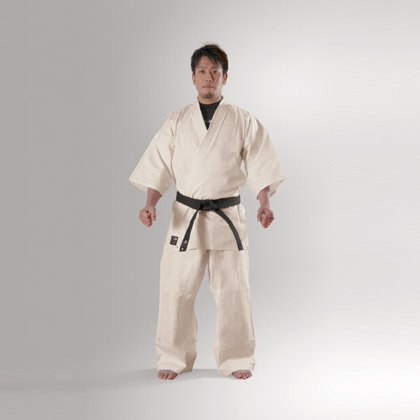 Body maker (BODYMAKER) BB-SPORTS BODYMAKER full contact karate uniform ivory 4, with top and bottom set and white belt 1 FKA4 1FKA4