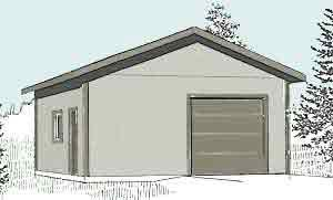 Garage Plans 1 Car Garage With Shop Plan 624 3 24 39 X 26