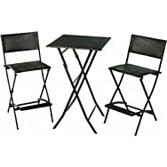 Rio Brands-Chairs FWRS01-55 3-Piece Santa Fe Patio Bar Set
