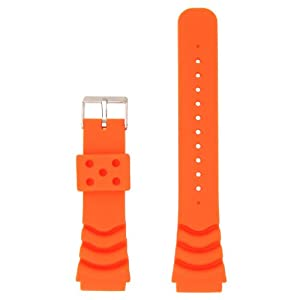 5ec1b9ee248 Buy ZULUDIVER Dive Watch Strap for Seiko Z20 Monster Orange 20mm from  Amazon at £7.94