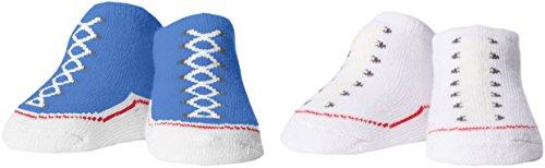 Converse 2 Pack Booties, Calze Bimba, Blu (Oxygen Blue), 0/6 mesi (Taglia Produttore: 0-6M)