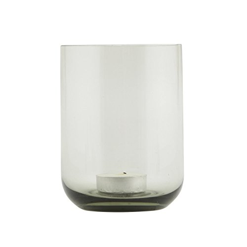 Tealight holder, Shaped, grey, dia.: 9 cm, h.: 12 cm