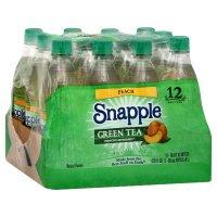 Snapple Peach Green Tea - 16.9oz 12 Pack