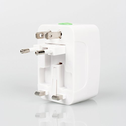 A-Szcxtop™ Travel World-Wide Universal Ac Adapter Surge Protector Usb Power Port Charger (White)