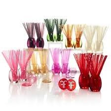 Joy Mangano Forever Fragrant 64 Sticks & 2 Vases - Vanilla Amber