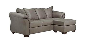 Sofa Chaise in Cobblestone Fabric