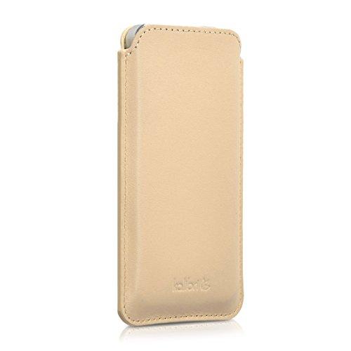 kalibri-Leder-Tasche-Hlle-fr-Apple-iPhone-SE-5-5S-Handy-Case-Cover-Echtleder-Schutzhlle-in-Sand