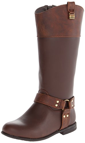 Tommy Hilfiger Kids Andrea Rider Charm Riding Boot ,Dark Bro