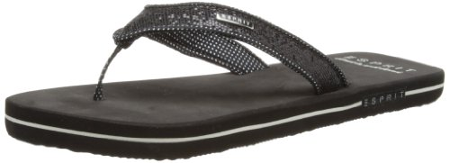 Esprit Womens Glitter Thongs Sandals 034EK1W049 Black 8 UK, 42 EU