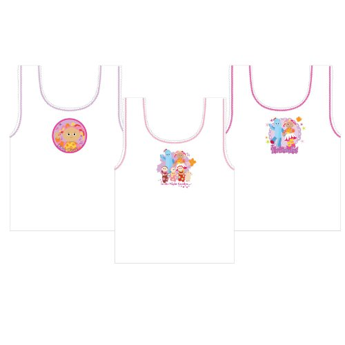 Childrens/Kids Girls In The Night Garden Underwear Sleeveless Vests (Pack of 3)