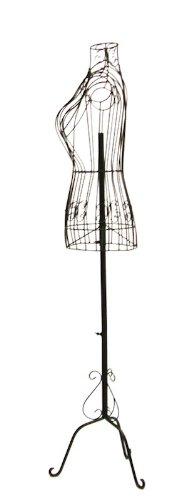 Brand New Female Dark Bronze Steel Wire Mannequin Dress Form 33