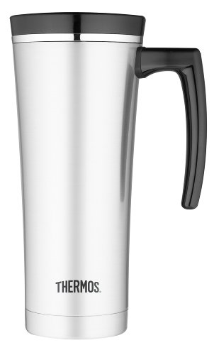 Thermos 16-Ounce Vacuum Insulated Travel Mug, Black front-560654