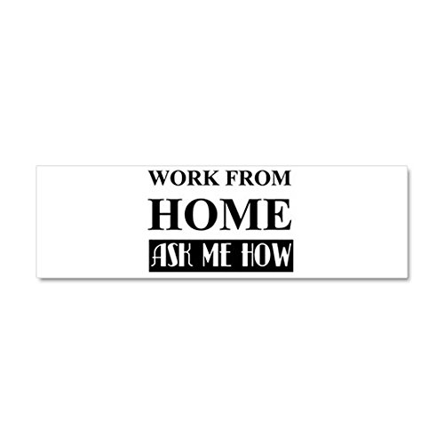 CafePress - Work From Home Bw Car Magnet 10 X 3 - Car Magnet 10 x 3, Magnetic Bumper Sticker (Amway Decal compare prices)