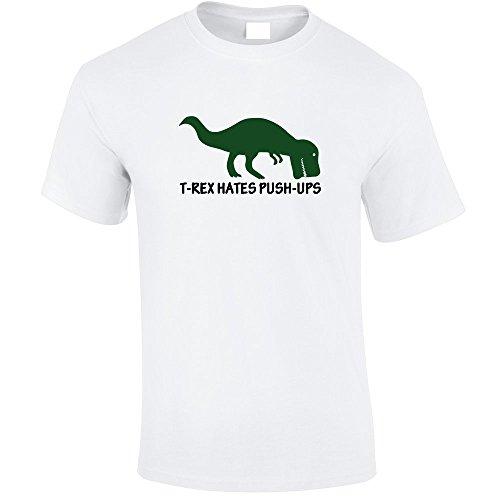 T-REX Hates Push-ups Maglietta bianco 3XL