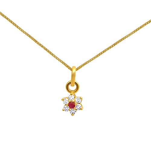 Joyalukkas savariya precious collections 22k 916 yellow gold and joyalukkas savariya precious collections 22k 916 yellow gold and ruby pendant b01hmbexbq aloadofball Image collections
