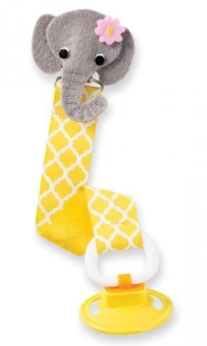 Mud Pie - Elephant Pacifier Clip - One Size - 1