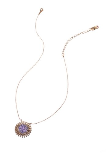 24K Rose Gold Plated Marvelous Chain with Pendant from 'Rainy Skies' Collection by Amaro Jewelry Studio Designed with Abalone, Cat's Eye, Swarovski Crystals, Amethyst, Sodalite, Lapis Lazuli, Agate and Jade