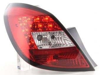 Led Taillights Opel Corsa D 5-Door Yr. 06-10 Red/Clear