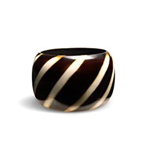 Stripe Bangle Bracelet by Spiegel