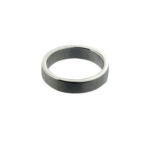 9ct White Gold 4mm plain Flat Wedding Ring Sizes I to P