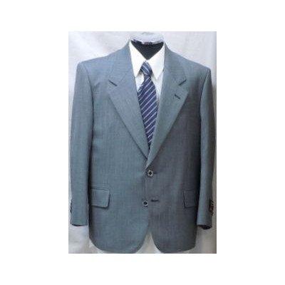 小さいサイズ シングルスーツ グレーストライプ系 英国製生地使用 日本製 BB2 裾上げ・シングル(股下サイズ):82