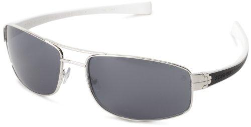 Tag Heuer Lrs 251 206 Rectangular Sunglasses,Black & White,64 Mm