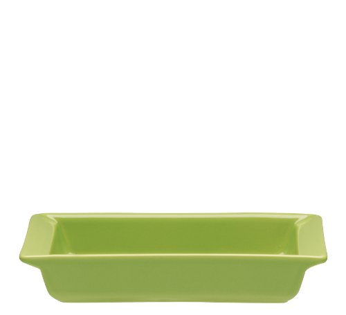 Emile Henry 8 By 5-Inch Individual Rectangular Dish, Green Apple