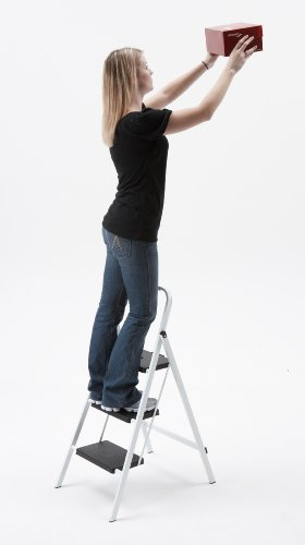 3 Step Steel Skinny Mini Step Stool Ladder