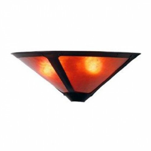 17 Inch W Van Erp Amber Mica Wall Sconce Wall Sconces