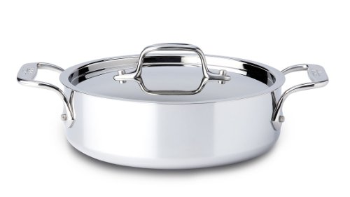 All-Clad 8701004495 Stainless Steel Saute Pan with Loop and Lid, 2-Quart, S