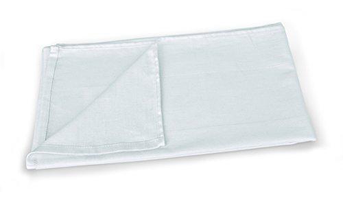 Tischdecke in weiß aus 100 % Baumwolle, waschbar bis 60 °C, Abmessung: 80 x 80 cm